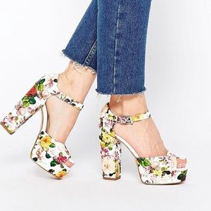 ASOS new look shabby chic size 8 platform shoes